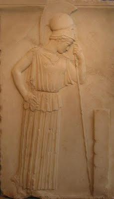 Athena - Musée de l'Acropole / couverture de l'éd. GF 1966 de Platon, La République