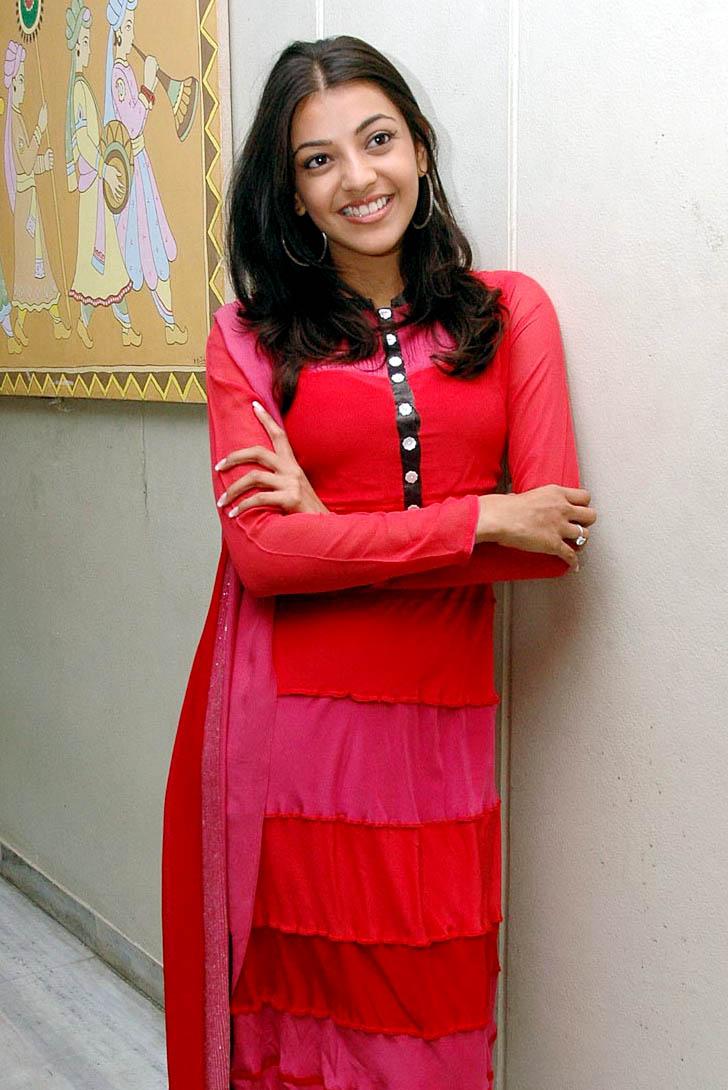 Kajal Agarwal In Red Salwar Kameez Looking Cute - 40 Pics