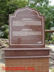 Papan tanda sejarah Batu Pahat