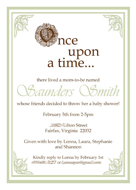 once upon a time baby shower invite