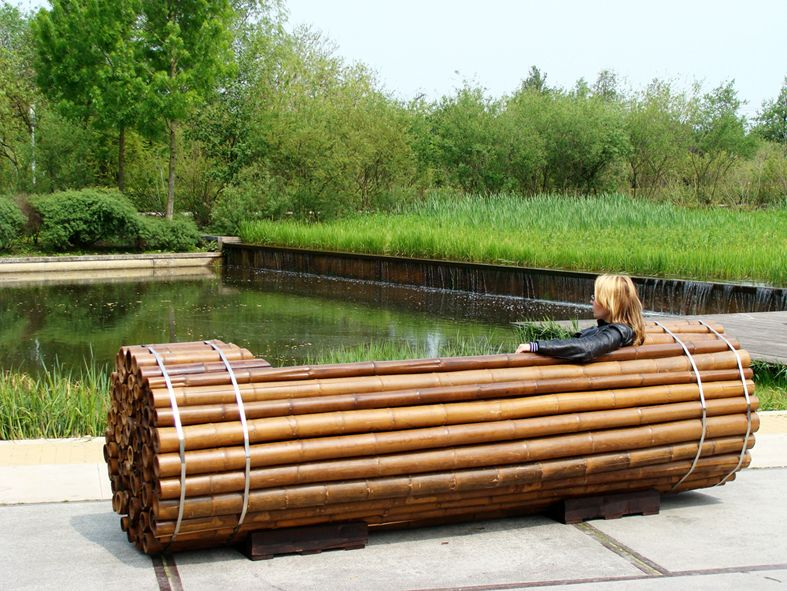 Pile Isle Bamboo Bench by
