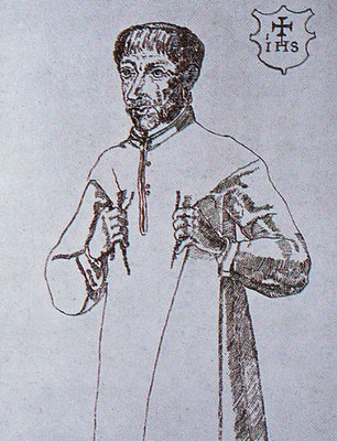 Indonesian drawing of St. Francis Xavier