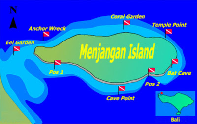 Map of Menjangan Island