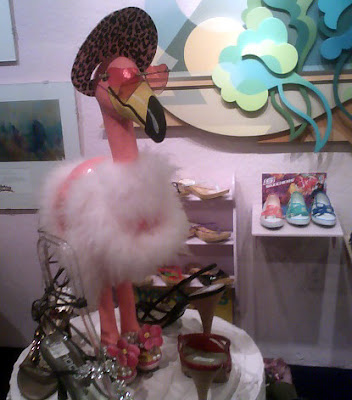 Flamingo in Shoes