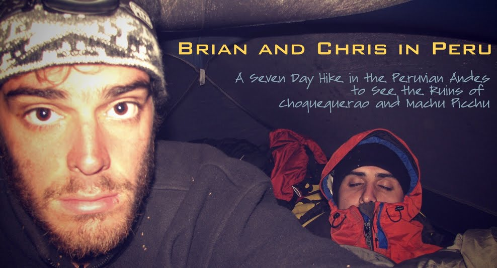Brian and Chris in Peru
