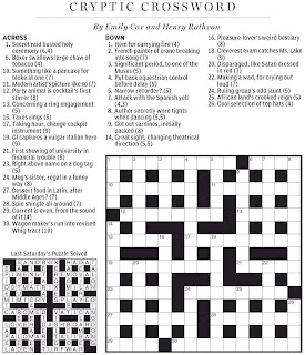 National Post Cryptic Crossword Forum: January 2010