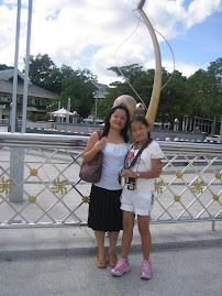 me and my daughter at Brunai