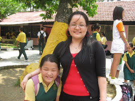 with my daughter at school