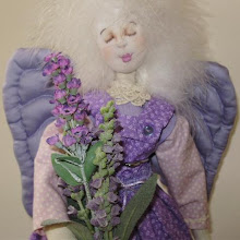Lavender country style angel doll