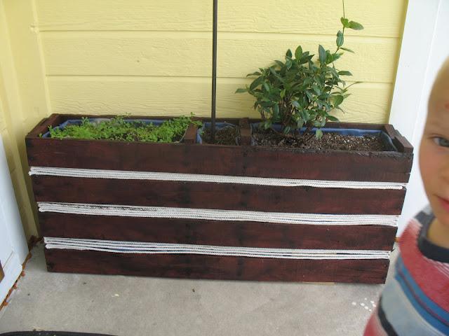 Foyer Planter Box : Shoestring pavilion the entryway saga continues