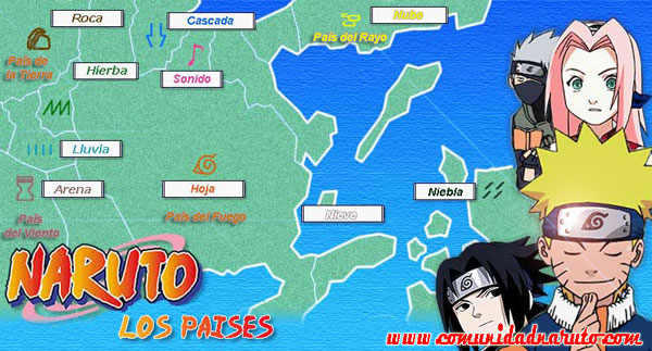 Naruto clases de aldeas for 5 principales villas ocultas naruto