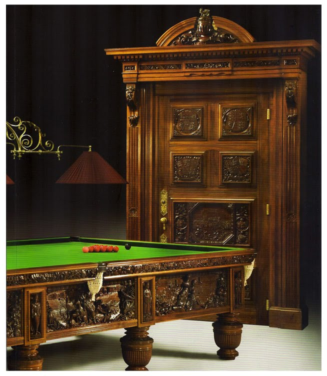 Little Fish Are Sweet The Queen Victoria Golden Jubilee Billiard Table - Masterpiece pool table