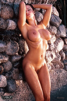 This is Candice Michelle nude in Ivolt Magazine.