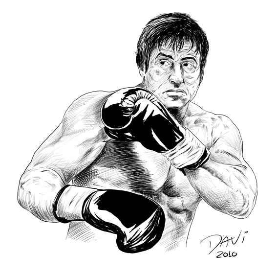 Rocky Balboa Free Coloring Pages