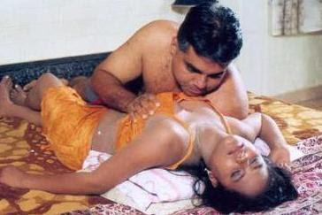 Kerala And Andhra Aunty Boobs Pressing By Her Husband