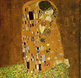 Γκούσταφ Κλίμτ, Το Φιλί, 1907-1908,Βιέννη, Πινακοθήκη Αυστρίας