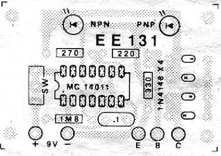 electronic \u0026 computer test transistor in circuit by ic 4011