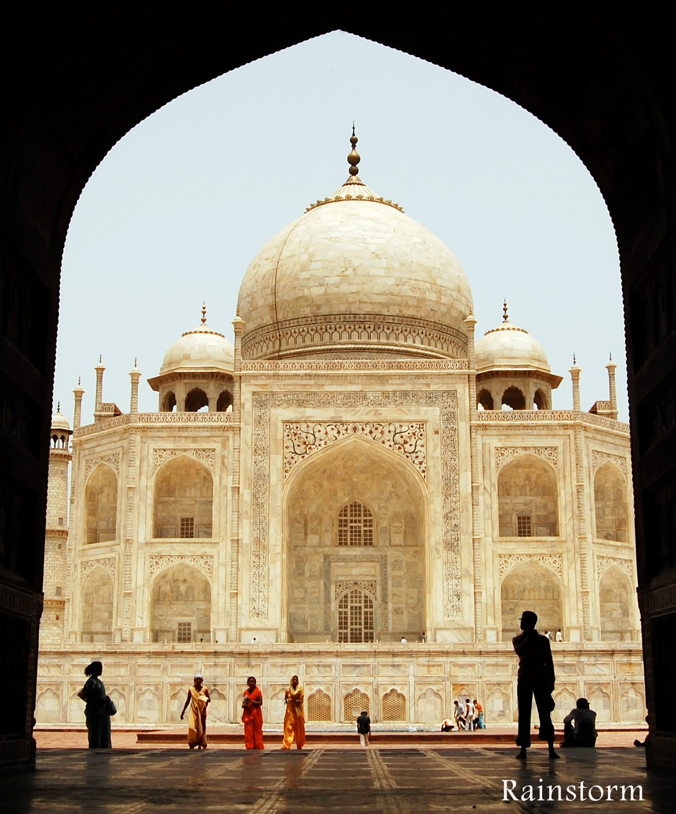India trip series 7 taj mahal part 5 mosque there for Taj mahal exterior design