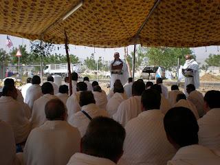 mendengar khutbah semasa di Arafah