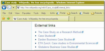 Wikipedia External Links example