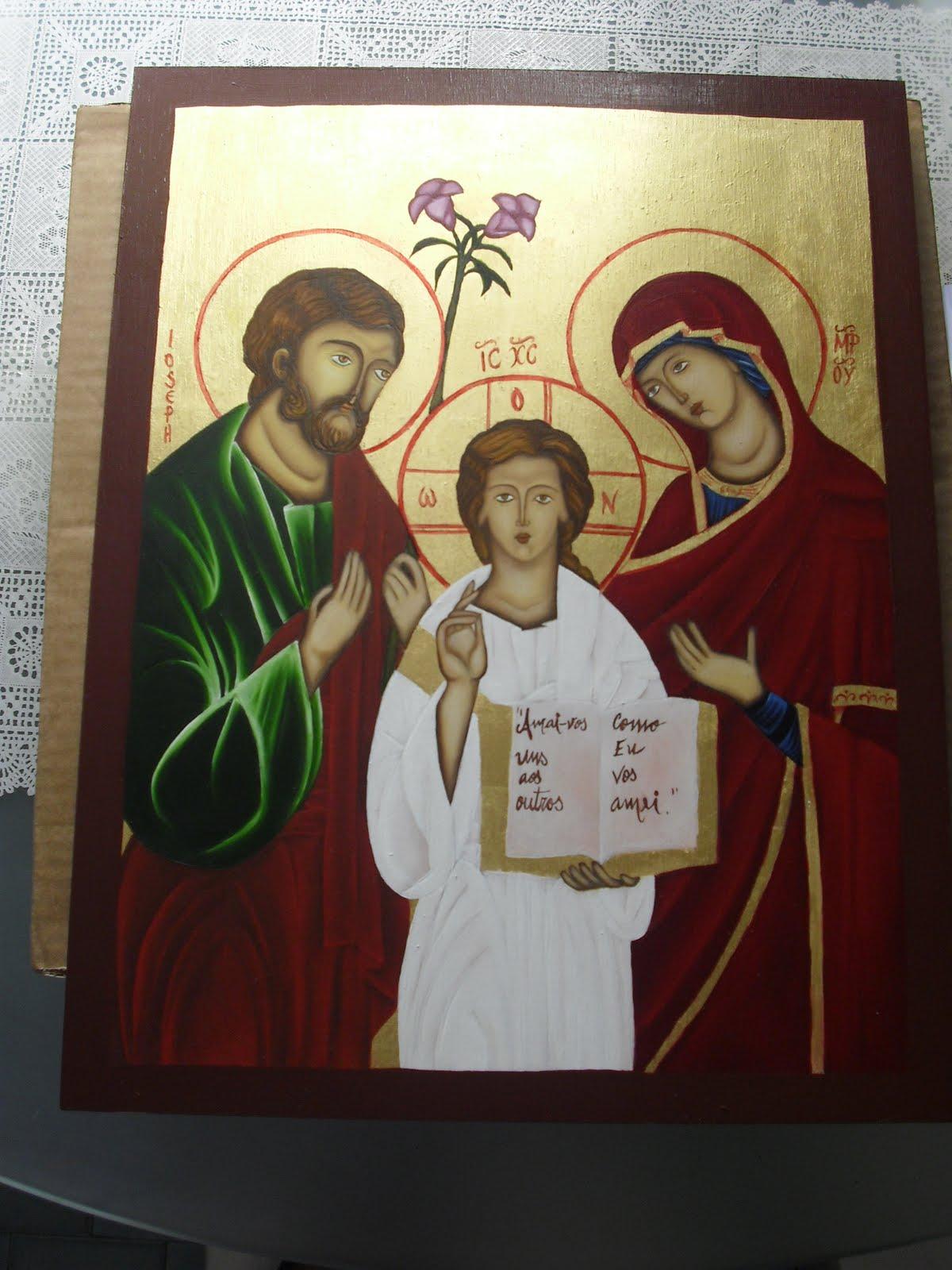 Arte sacra iconografia sagrada fam lia estilo icone - Estilo sagrada familia ...