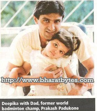 Rare childhood picture of Deepika padukone
