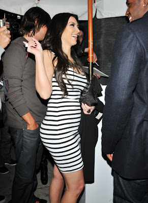 Kim Kardashian in Tight Dress at Night Party