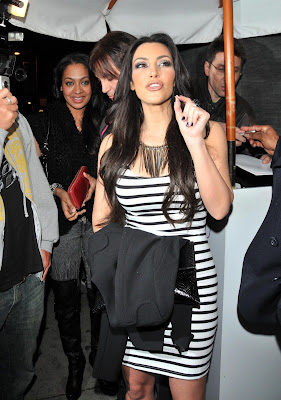 Kim Kardashian in Tight Dress at Night Party