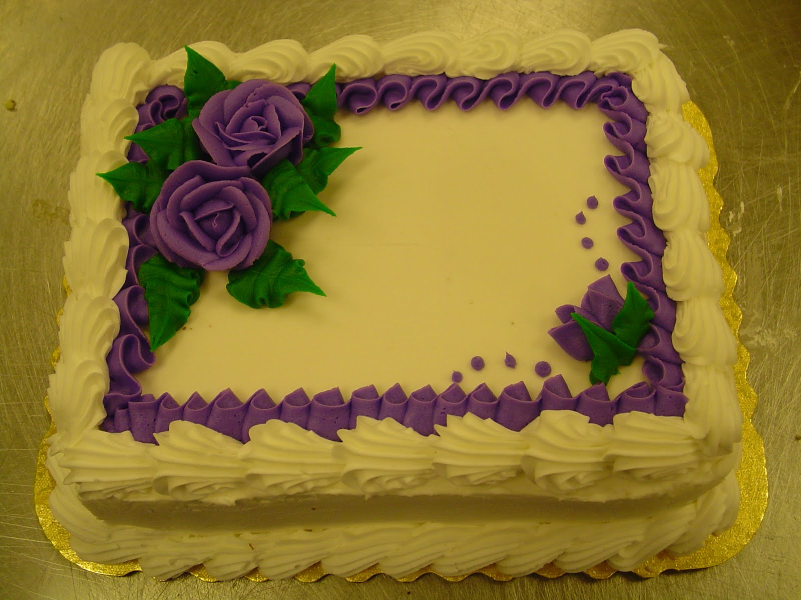 Cake Decorating Border Ideas : Becky s Sweets: Bakery Sheet Cakes