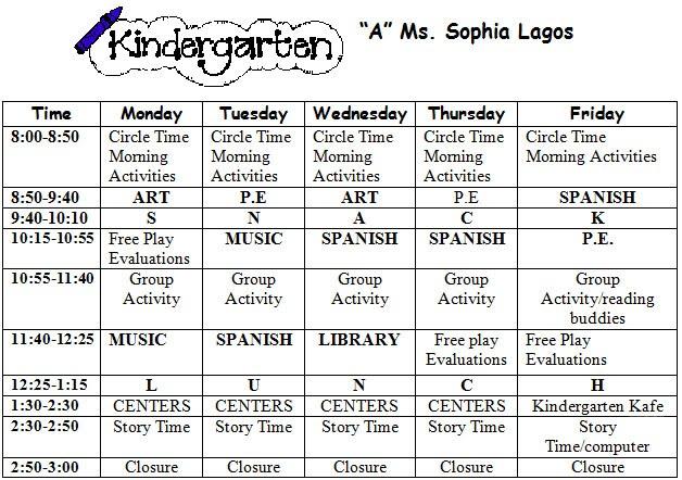 Welcome to kindergarten kindergarten syllabus for Preschool classroom schedule template