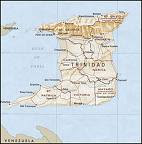 Map of Trinidad 4768 sq. kilometers