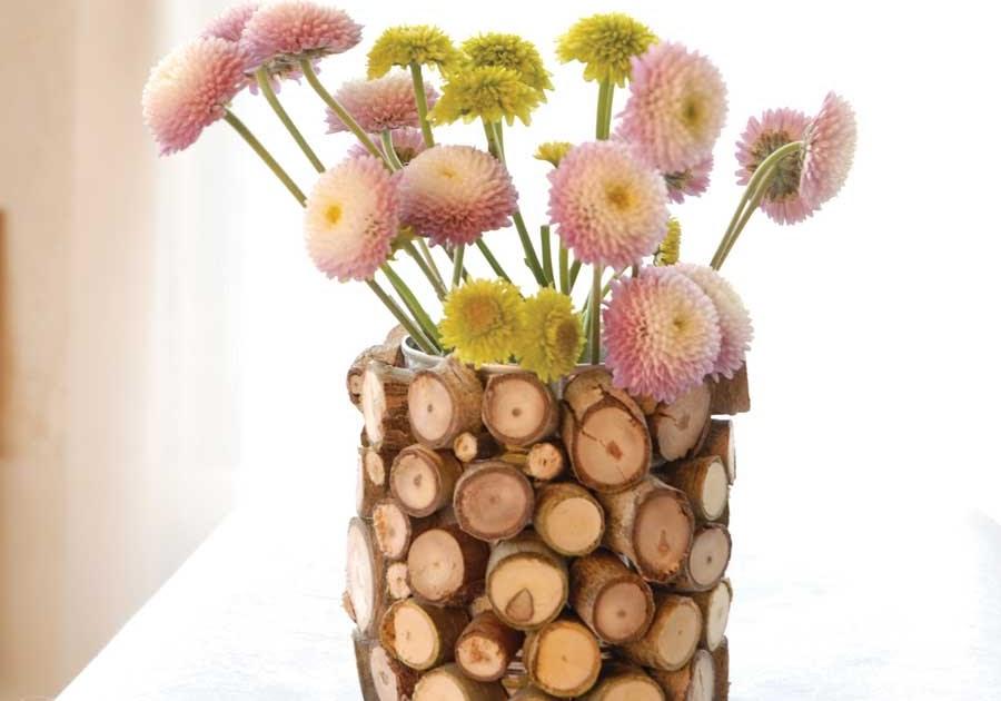 Hip hostess diy wood chip vase