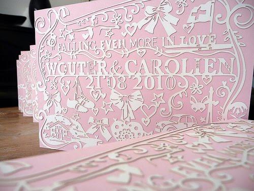 Breathtaking lasercut wedding invitations