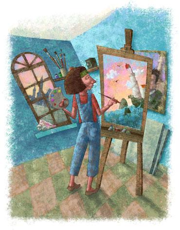 Estudio de pintora, Ed. Trillas