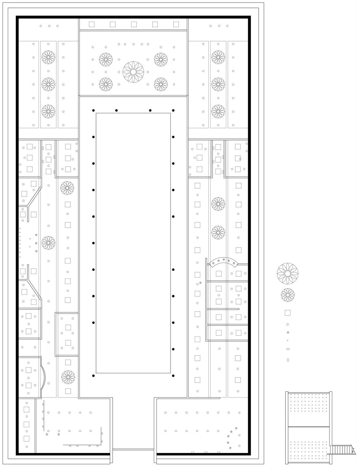 ID 3753 Britt Davies: Courtyard Style floor plan and reflected ...