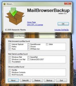 MailBrowserBackup - Programlar�n�n Profillerini T�klay�n ve An�nda Yedekleyin..