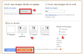 Como subir una imagen a blogger