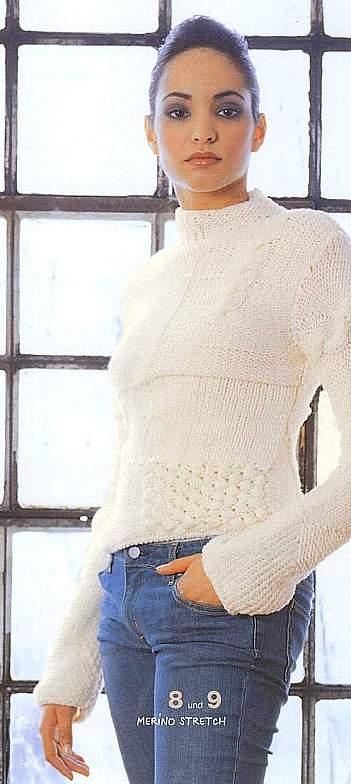 Вязание красивый свитер свитер
