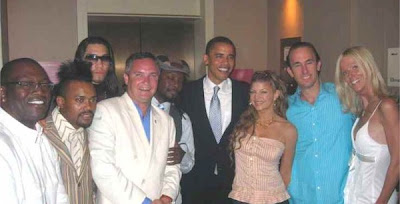 Barack Obama with the Black Eyed Peas and the Salahis