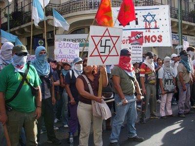 Que Opinas del Movimiento Piquetero? - Página 2 Piqueteros+argentinos+contra+Israel