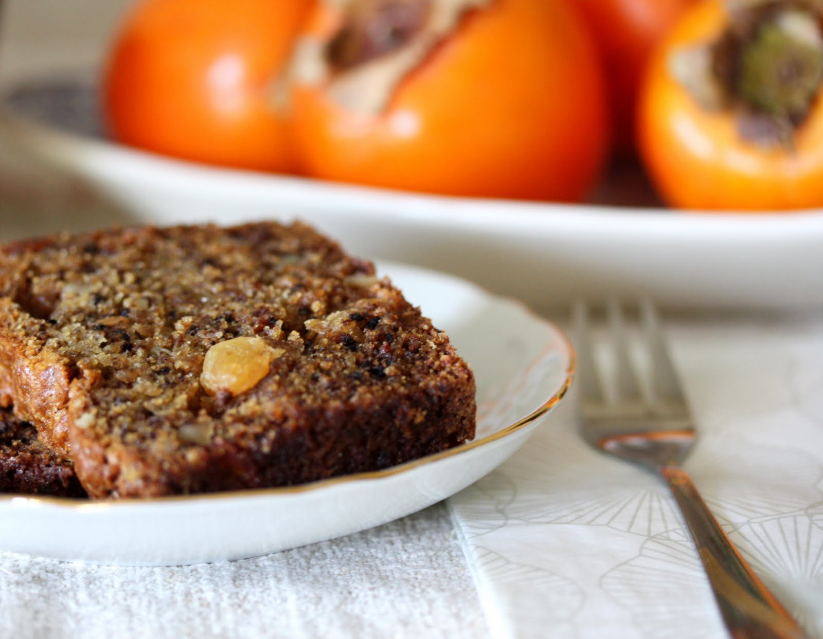 Persimmon Bread With Bourbon, Dates, And Walnuts Recipes — Dishmaps