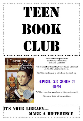 TEEN BOOK CLUB! We'll be meeting to discuss the book on tonight at the Court ...
