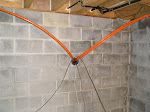 Pex lines coming thru basement wall