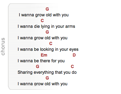 Perfect I Wanna Grow Old With You Chords Frieze - Beginner Guitar ...
