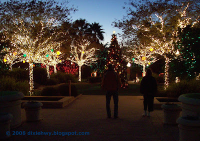 Dixie highway holiday lights at florida botanical gardens - Florida botanical gardens christmas lights ...