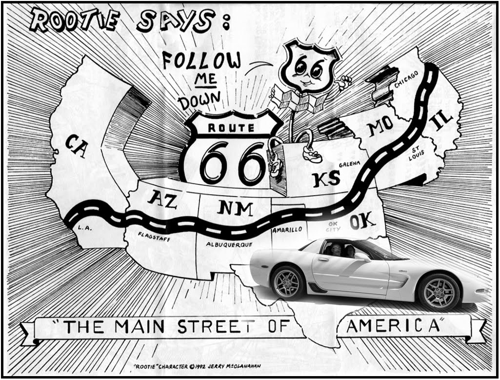 How To Draw Route Route 66 Coloring Pages