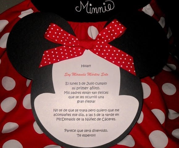 Mara Handmade Cards: Invitación Minnie