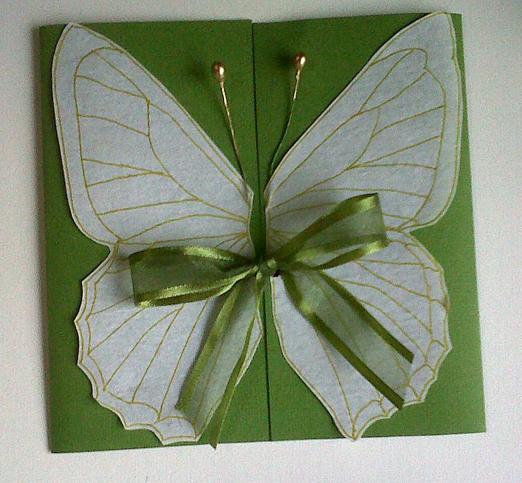 Mara Handmade Cards: Invitación con motivo de Mariposa