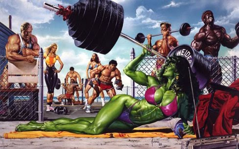She-Hulk Comic Book Female Muscle Babes