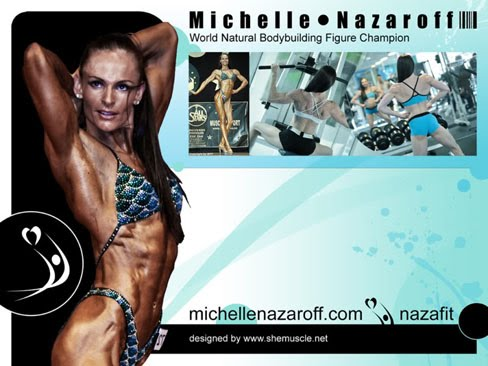 Michelle Nazaroff Female Muscle Desktop Wallpaper